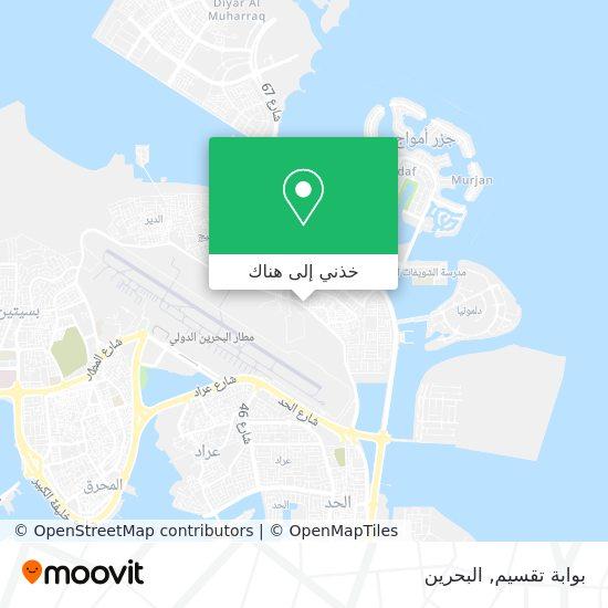 خريطة بوابة تقسيم