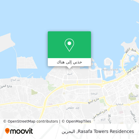 خريطة Rasafa Towers Residences