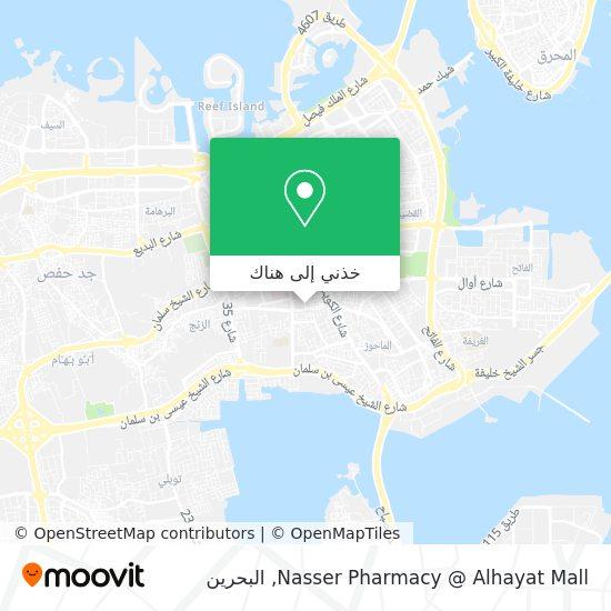 خريطة Nasser Pharmacy @ Alhayat Mall