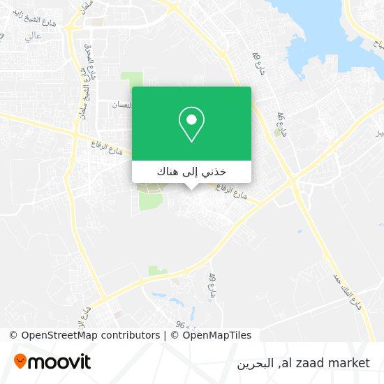 خريطة al zaad market
