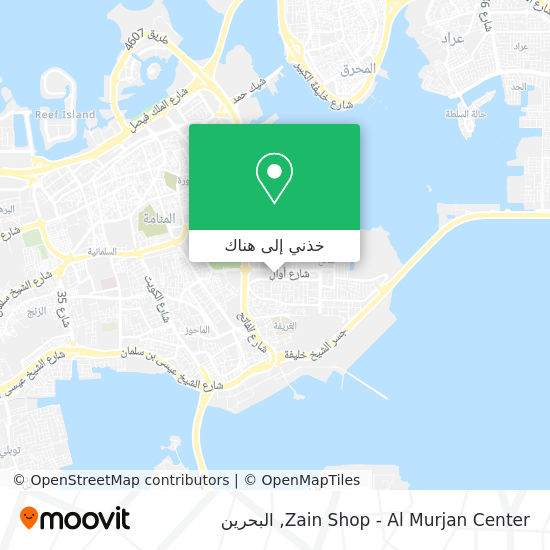 خريطة Zain Shop - Al Murjan Center