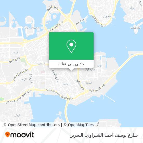 خريطة شارع يوسف أحمد الشيراوي