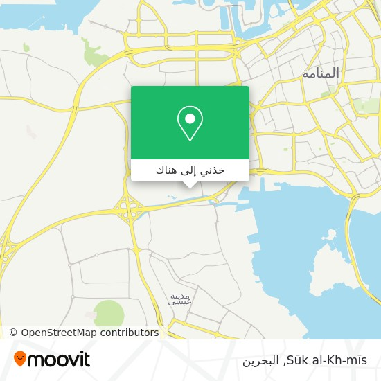 خريطة Sūk al-Kh-mīs