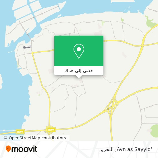 خريطة 'Ayn as Sayyid