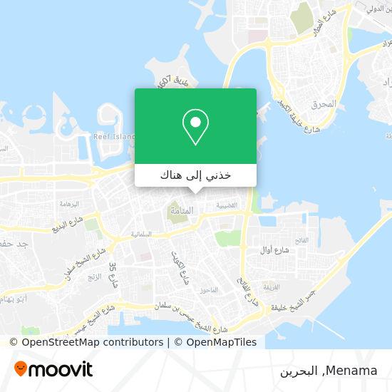 خريطة Menama