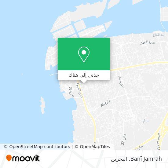 خريطة Banī Jamrah