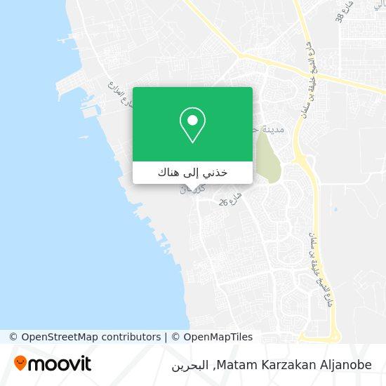 خريطة Matam Karzakan Aljanobe