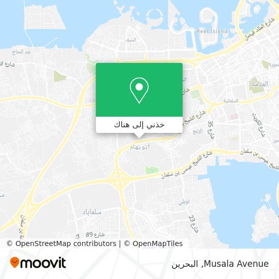 خريطة Musala Avenue