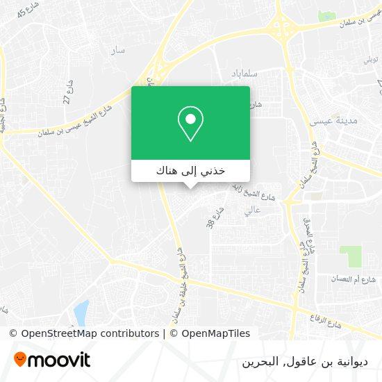 خريطة ديوانية بن عاقول