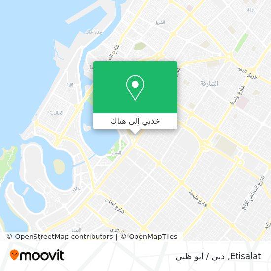 خريطة Etisalat