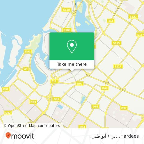 خريطة Hardees
