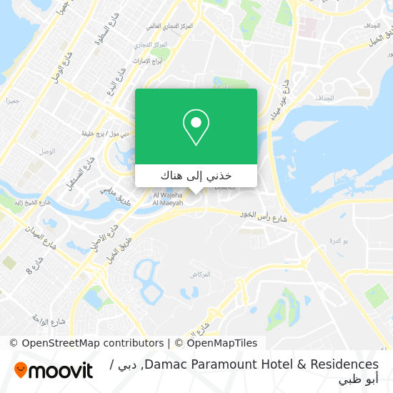 خريطة Damac Paramount Hotel & Residences