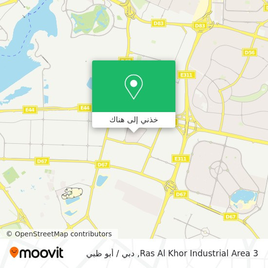 خريطة Ras Al Khor Industrial Area 3