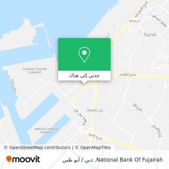 خريطة National Bank Of Fujairah