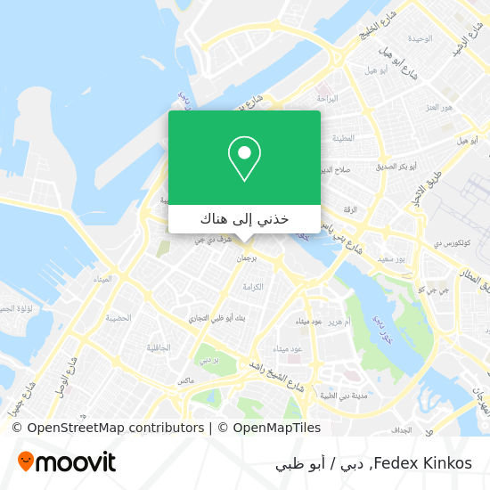 خريطة Fedex Kinkos