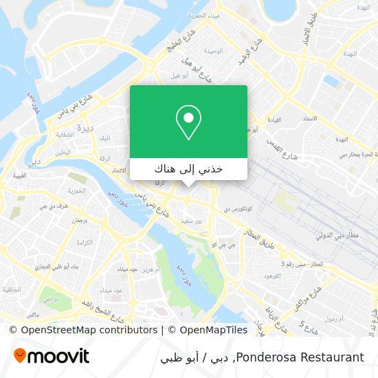 خريطة Ponderosa Restaurant