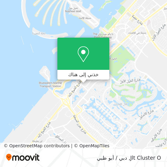 خريطة Jlt Cluster O