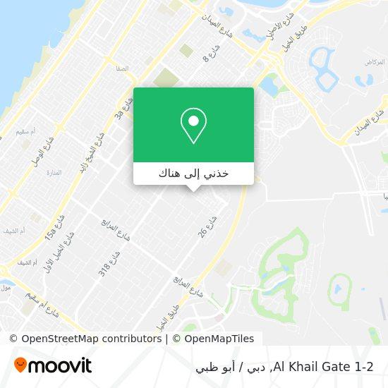 خريطة Al Khail Gate 1-2