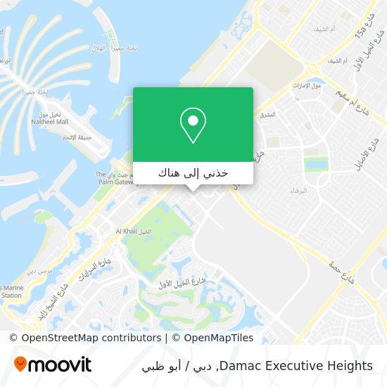 خريطة Damac Executive Heights