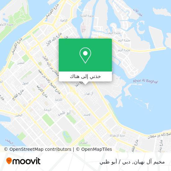 خريطة Al Nahyan Camp