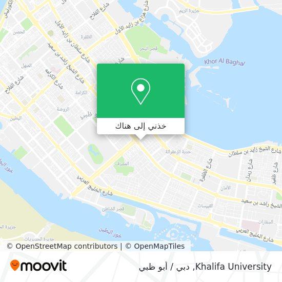 خريطة Khalifa University