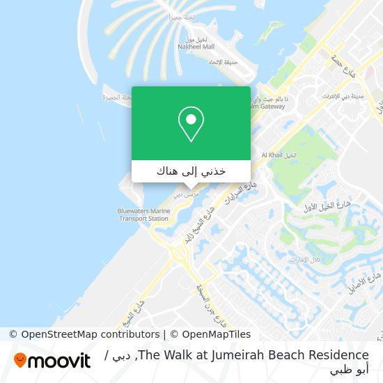 خريطة The Walk At Jumeirah Beach Residence