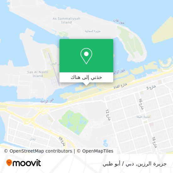 خريطة Al Razeen Island