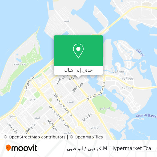 خريطة Km Hypermarket Tca