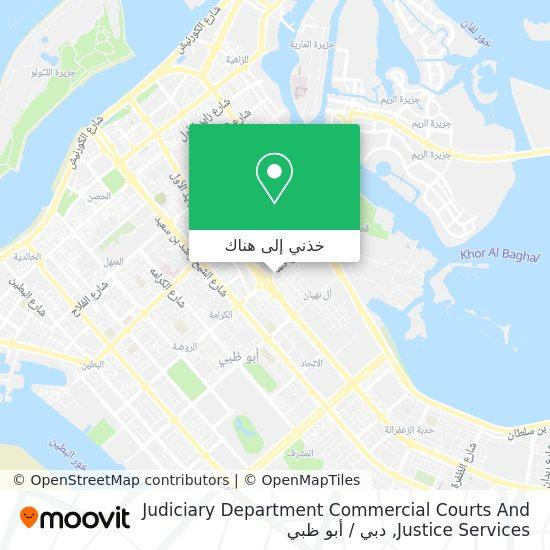 خريطة Judiciary Department Commercial Courts And Justice Services