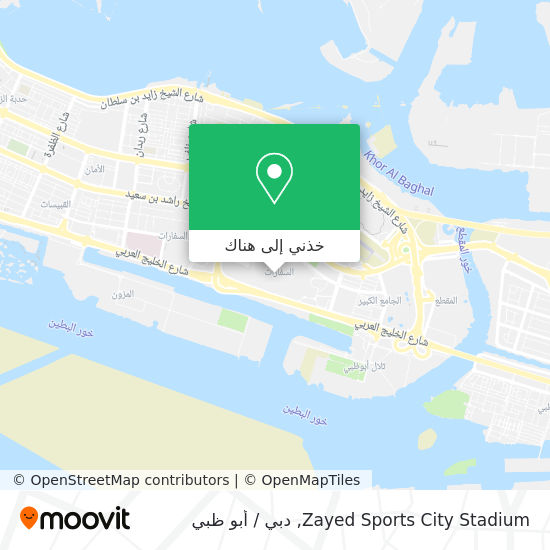 خريطة ستاد مدينة زايد الرياضية