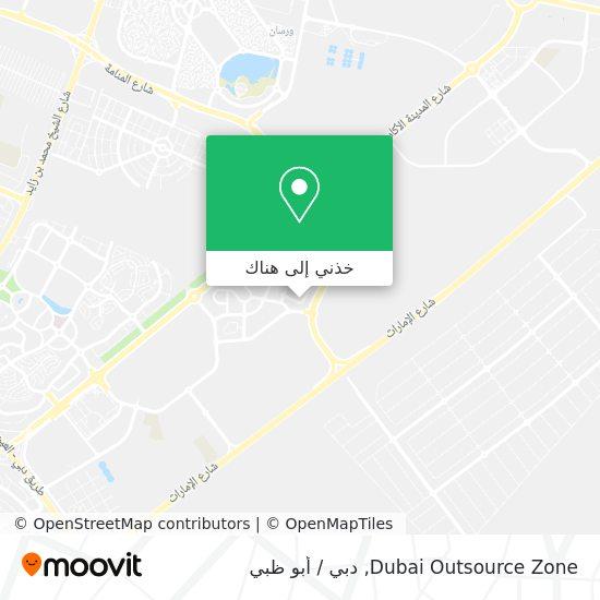خريطة Dubai Outsource Zone