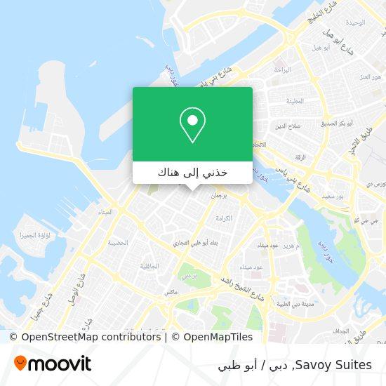 خريطة Savoy Suites