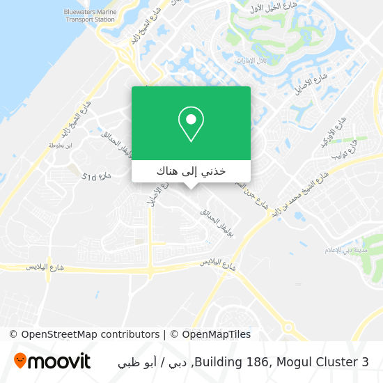 خريطة Building 186, Mogul Cluster 3