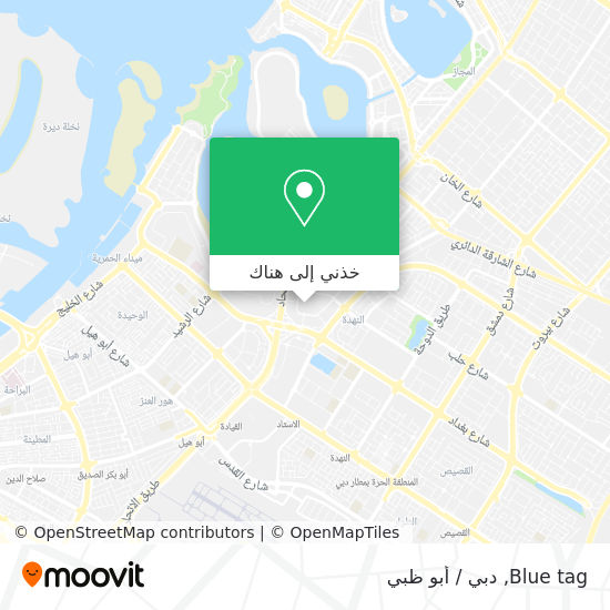 خريطة Blue tag