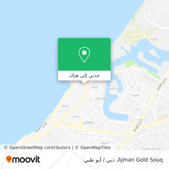 خريطة Ajman Gold Souq