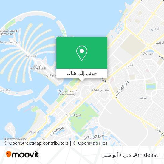 خريطة Amideast