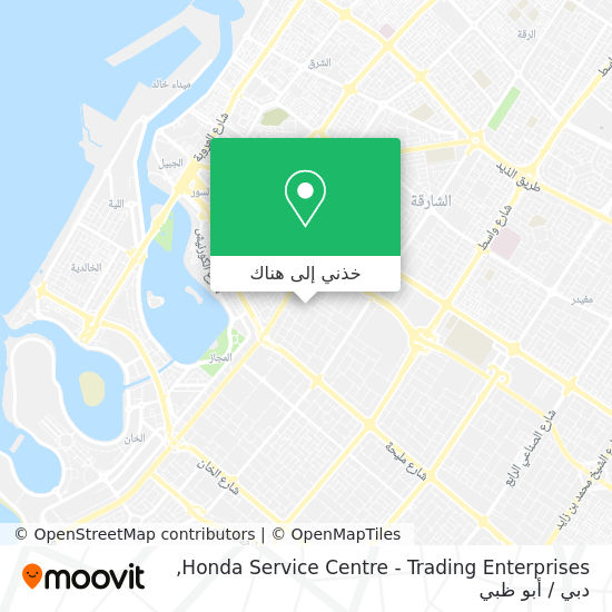 خريطة Honda Service Centre - Trading Enterprises