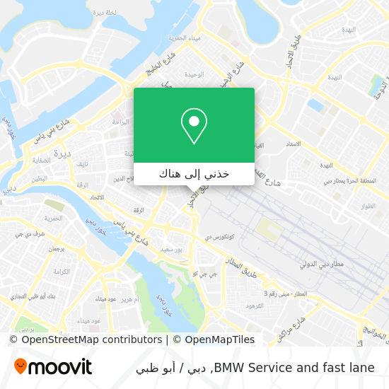 خريطة BMW Service and fast lane
