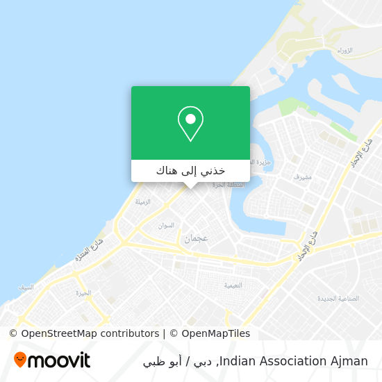 خريطة Indian Association  Ajman