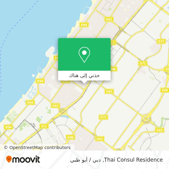 خريطة Thai Consul Residence