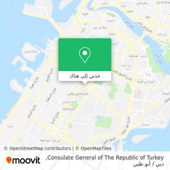 خريطة Consulate General of The Republic of Turkey
