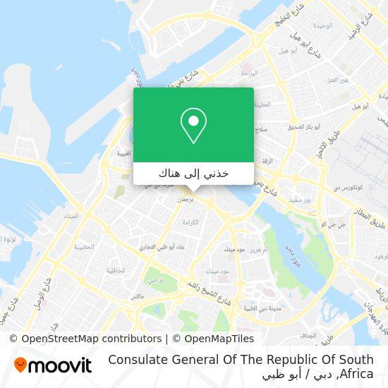 خريطة Consulate General Of The Republic Of South Africa