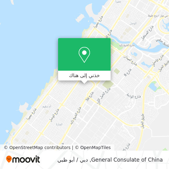 خريطة General Consulate of China