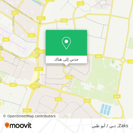 خريطة Zaks