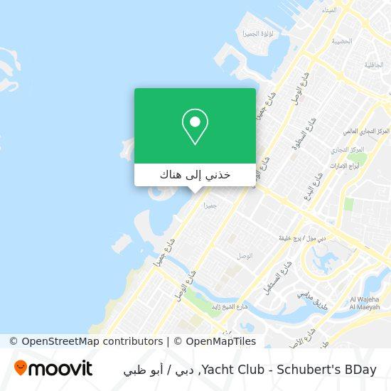 خريطة Yacht Club - Schubert's BDay