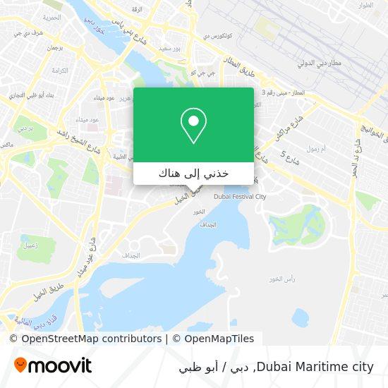 خريطة Dubai Maritime city