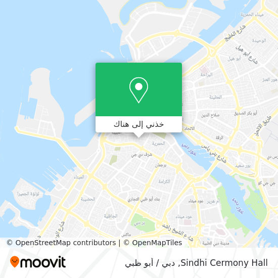 خريطة Sindhi  Cermony Hall