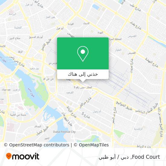 خريطة Food Court