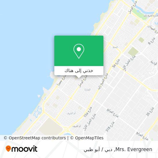 خريطة Mrs. Evergreen