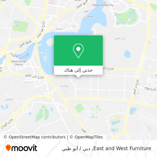 خريطة East and West Furniture